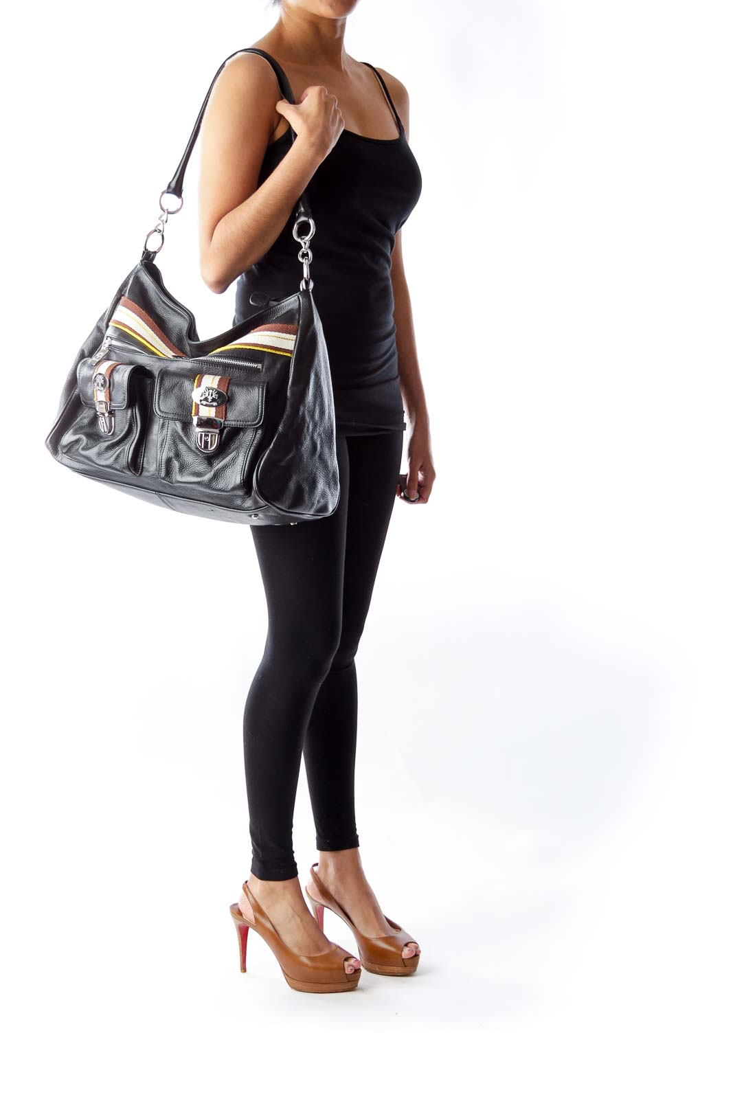Black Leather Large Bag