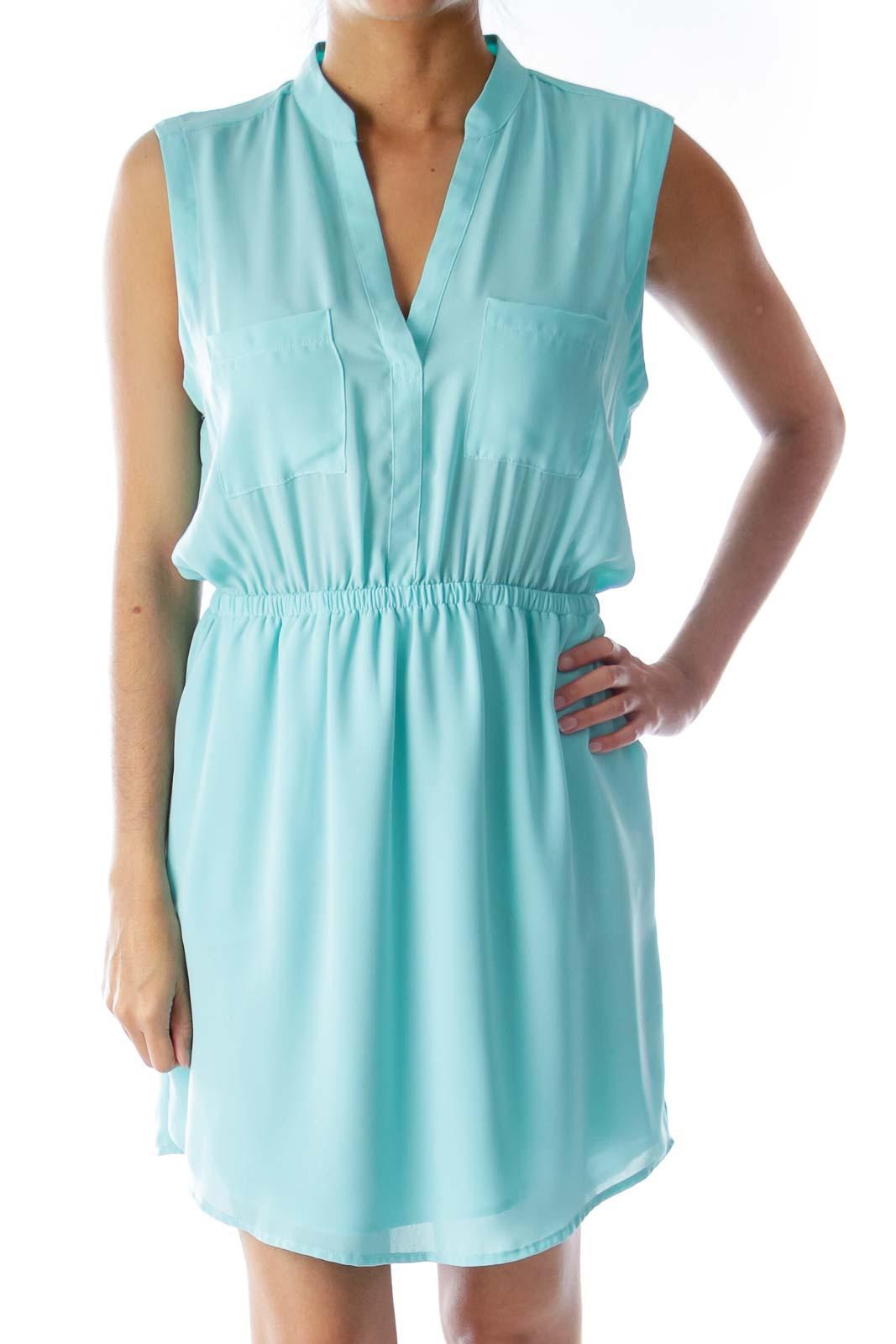 Mint Green Cut Back Dress