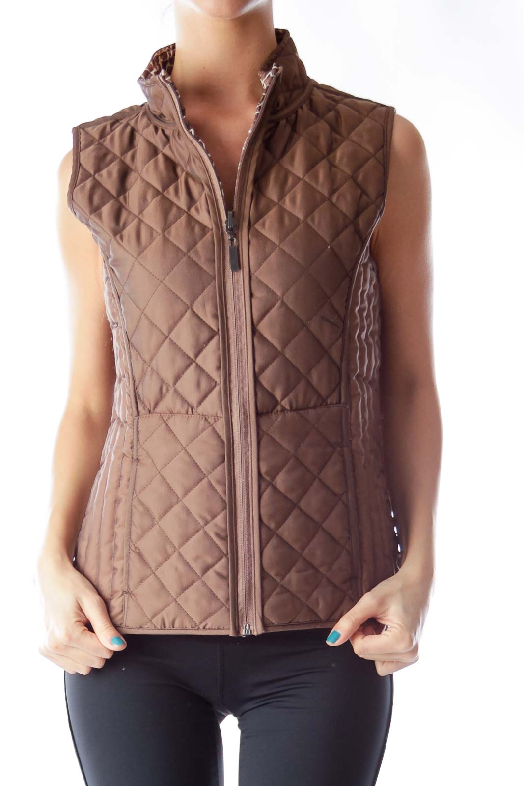 Brown Double Sided Vest