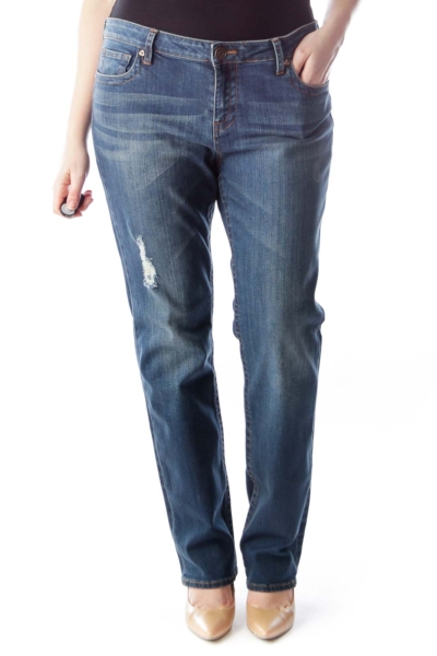 Blue Straight Leg Denim