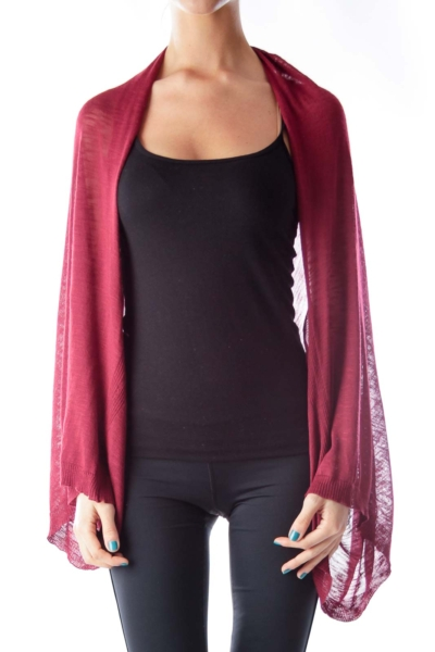 Burgundy Knit Cape