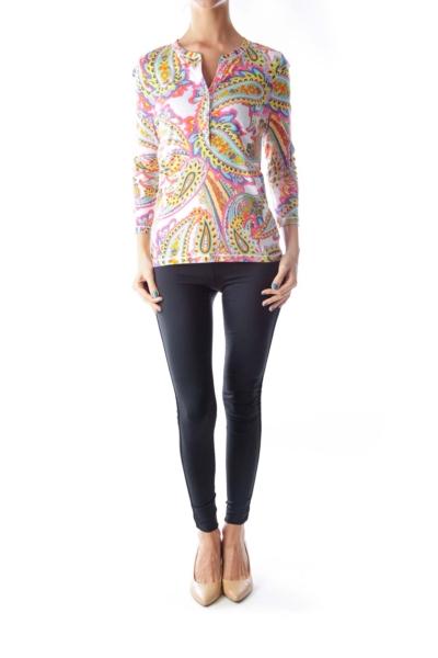 Color Print Long Sleeve Shirt