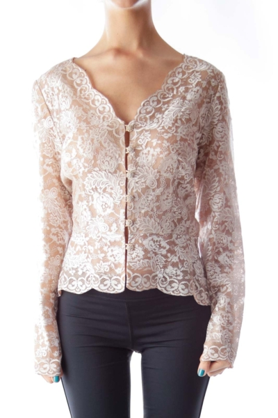 Beige Lace Shirt