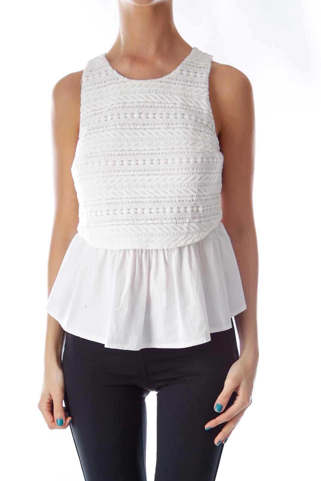 White Lace Layer Shirt