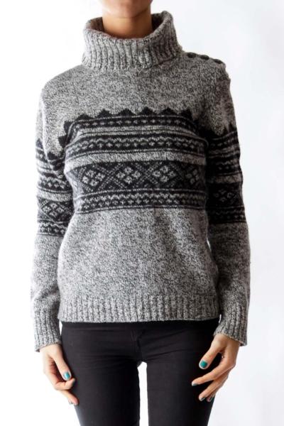 Gray & Black Merino Sweater