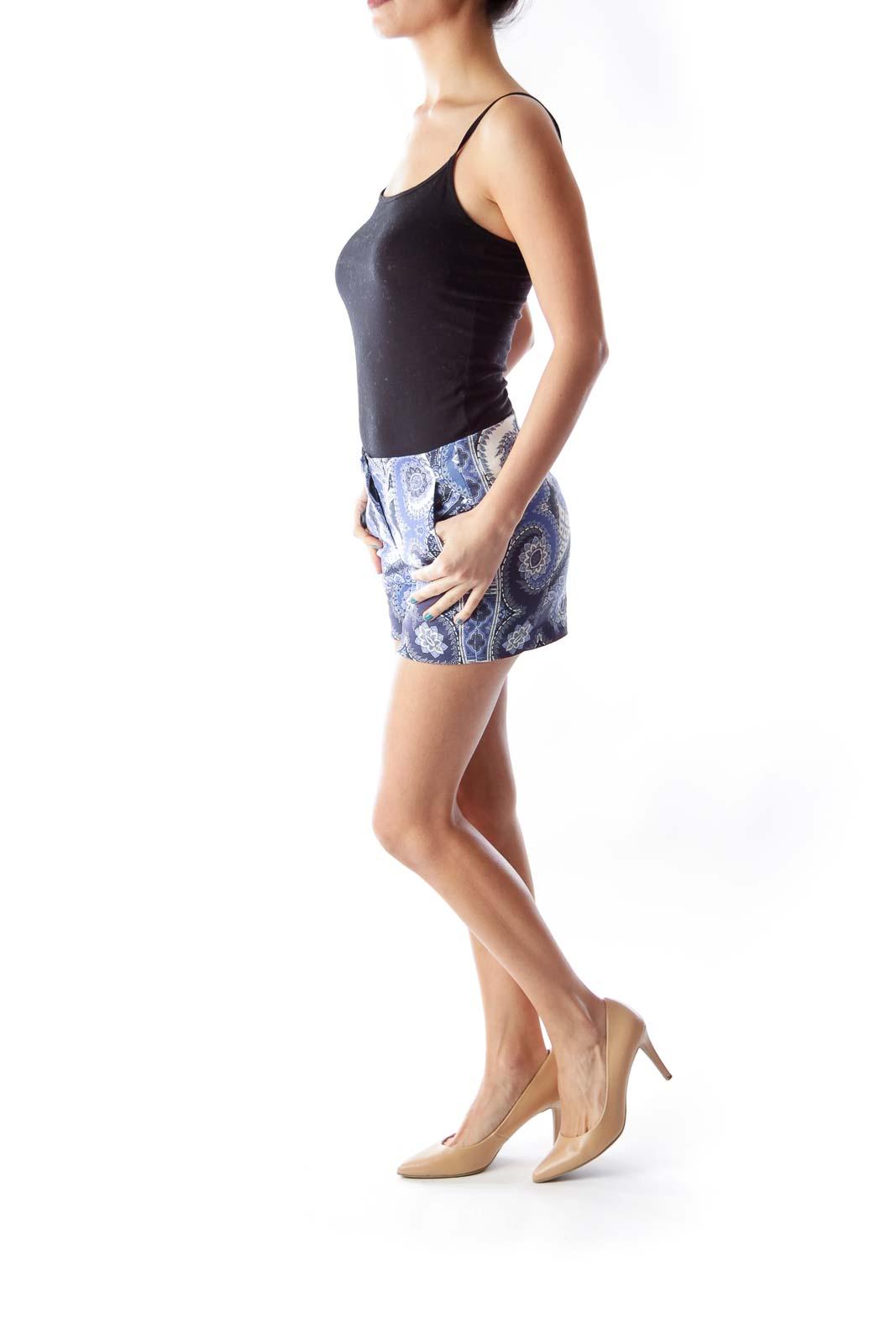 Blue Paisley Shorts