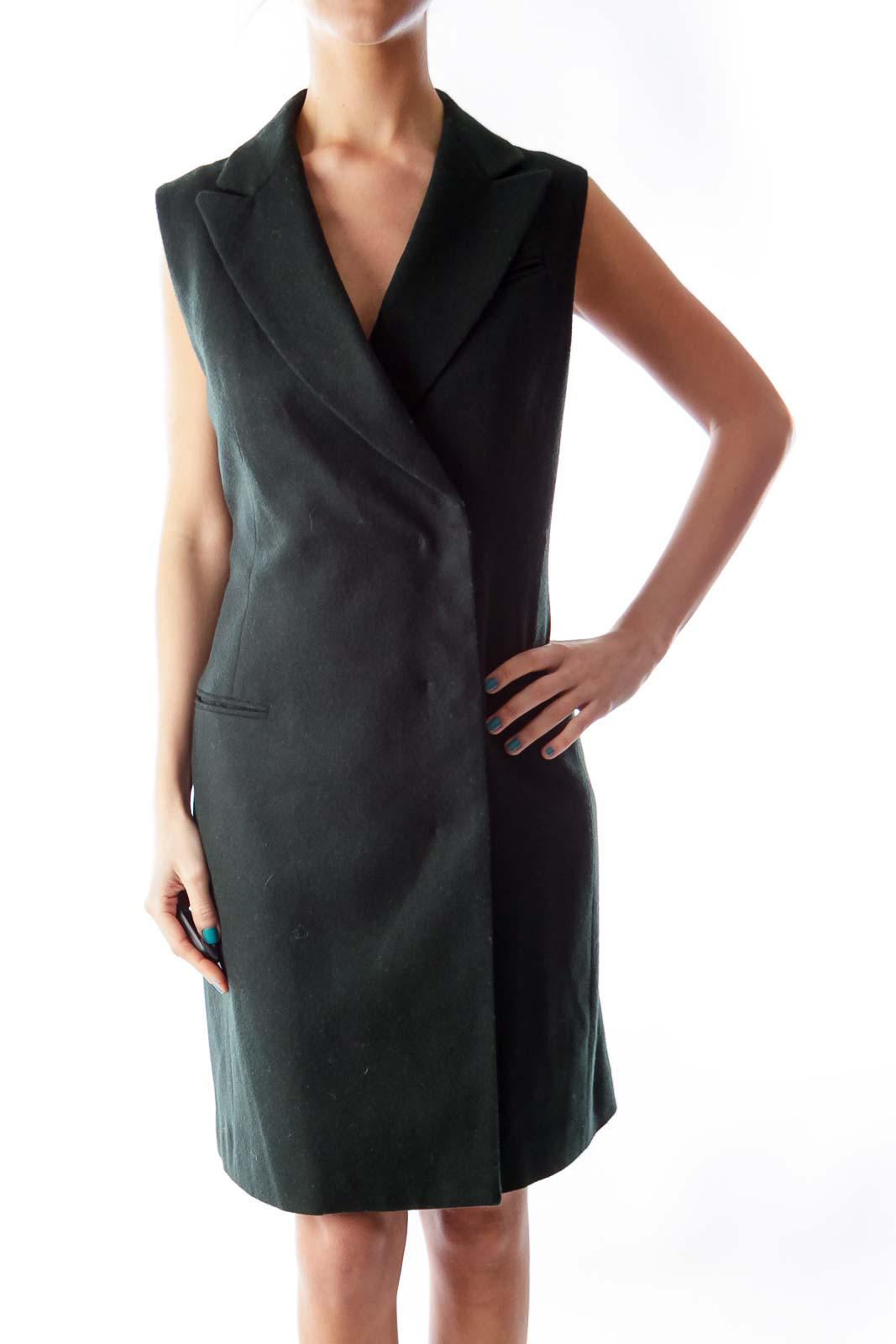 Dark Green Wool Vest
