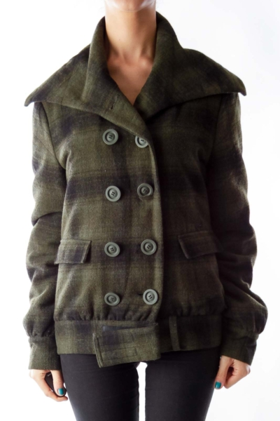 Dark Green Plaid Jacket