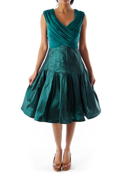 Emerald Green Party Dress