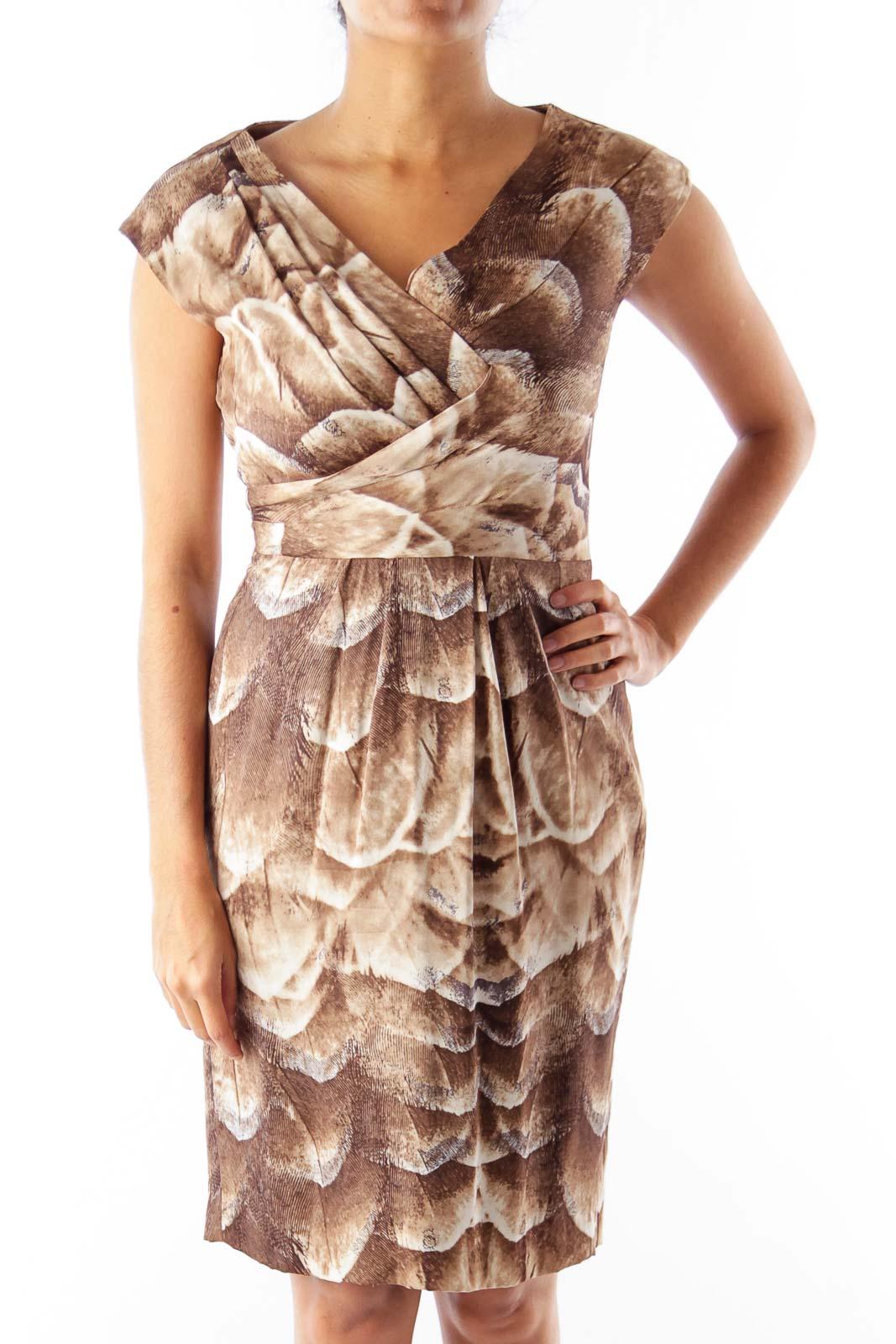 Brown & Beige Print Dress