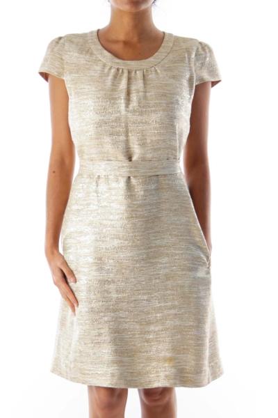 Gold Back Detail Dress