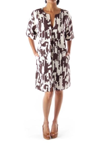 B&W Print Short Sleeve Coat
