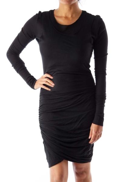 Black Adjusted Midi Dress