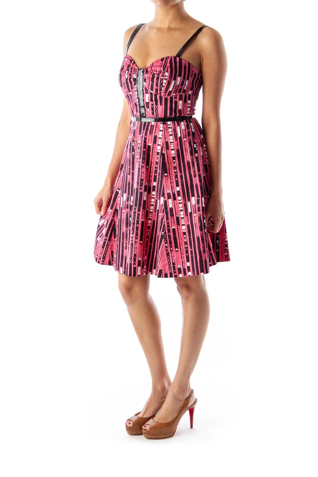Pink & Black Print Dress
