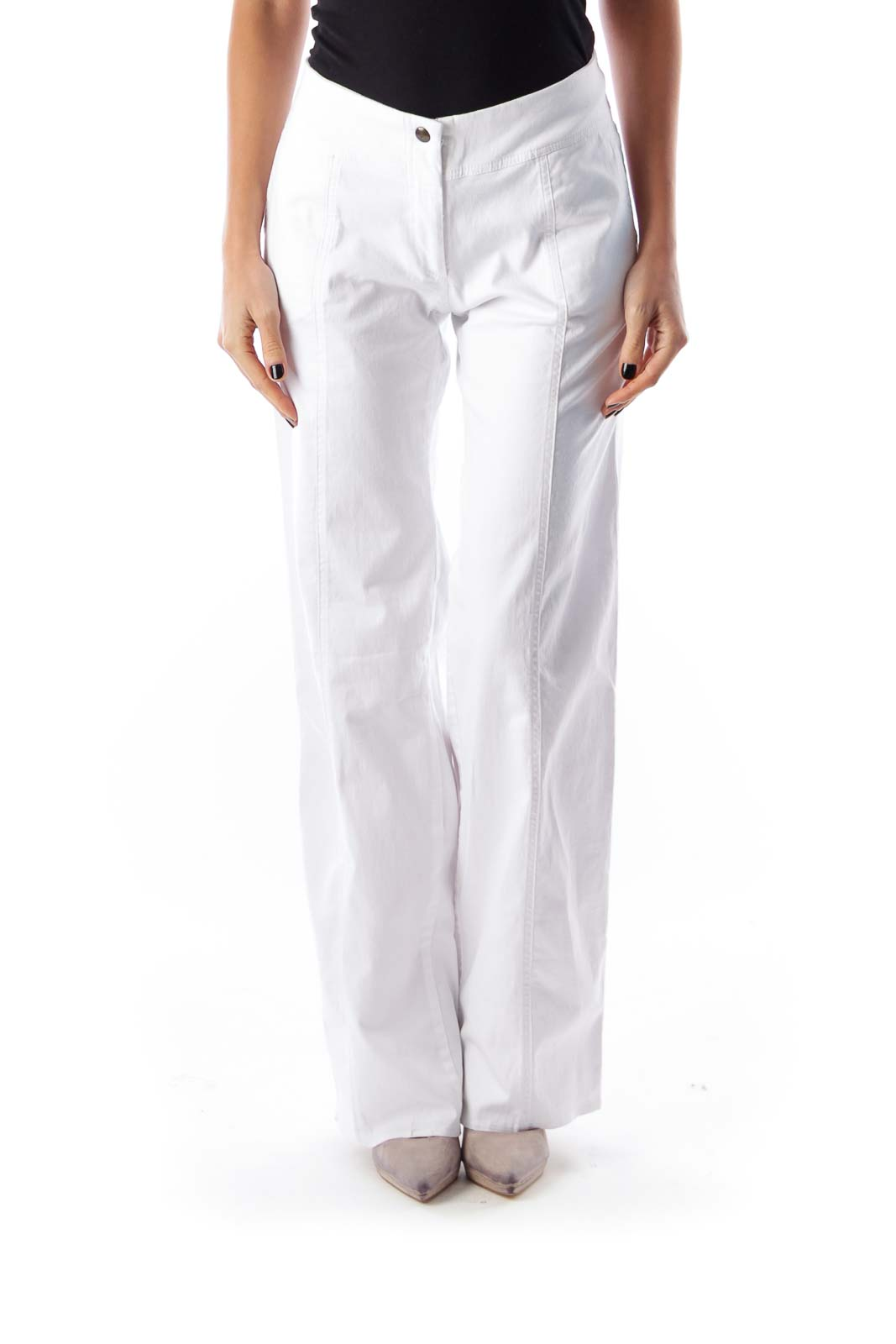 White Wide Legs Pants