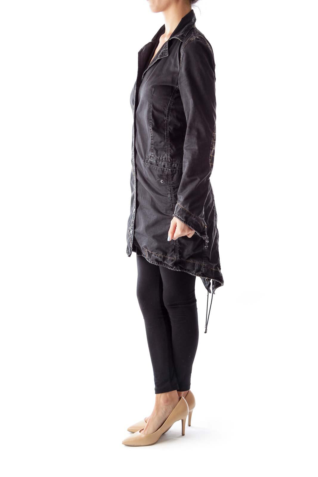Black Denim Coat