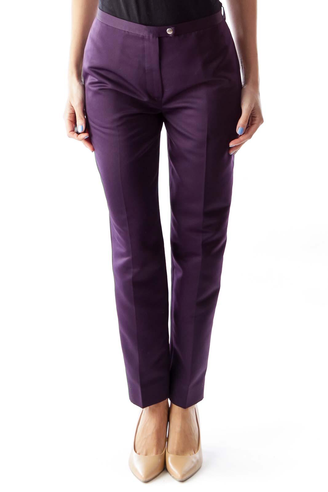 Purple Straight Pants