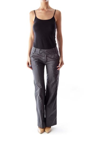 Gray Flare Pants