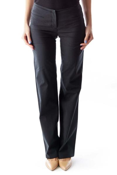 Black Front Pocket Pants