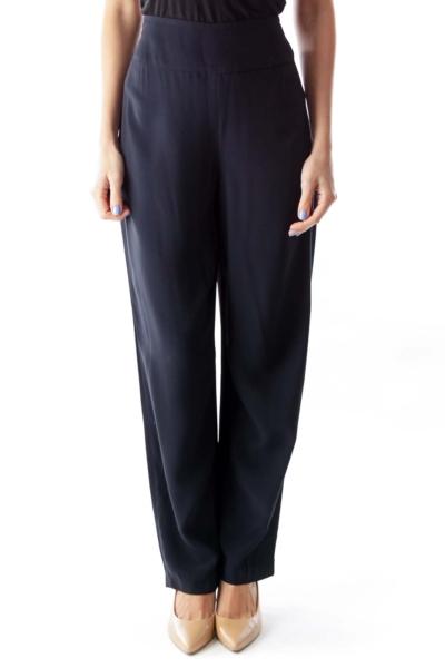 Navy High Waist Pants