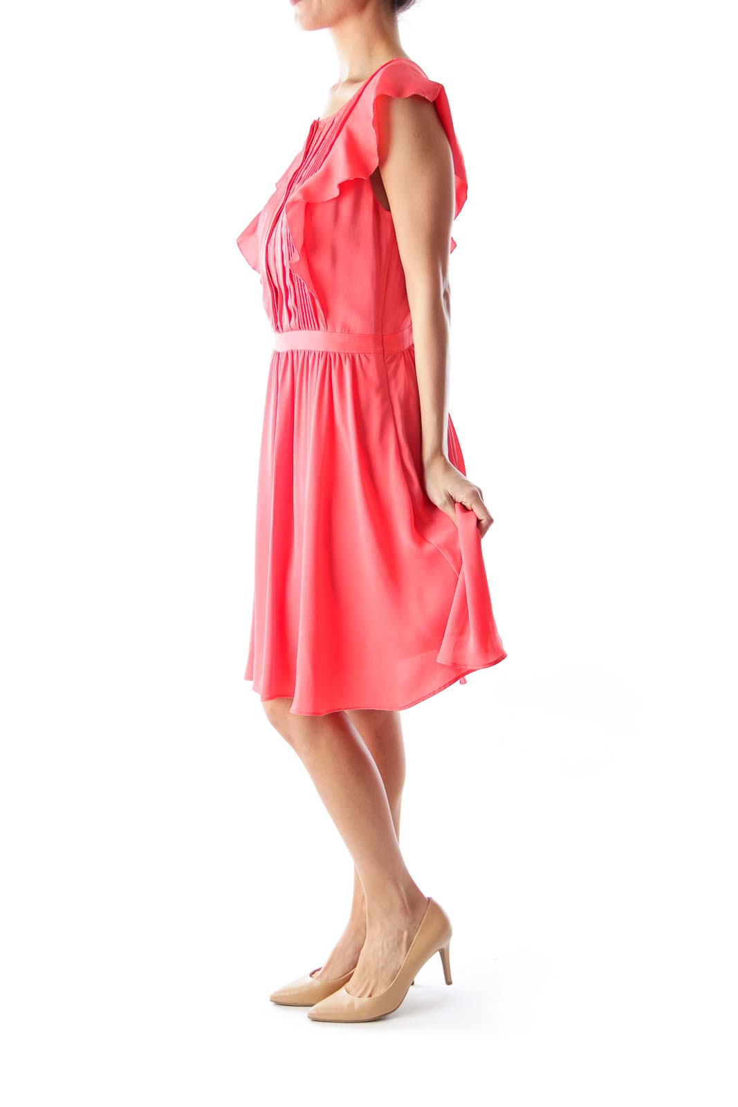 Peach Ruffle Dress