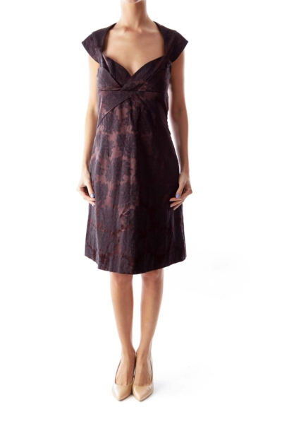 Brown & Black Lace Dress