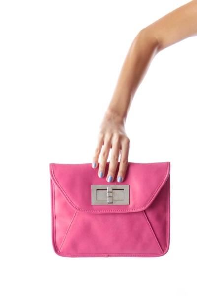 Pink Chain Crossbody Bag