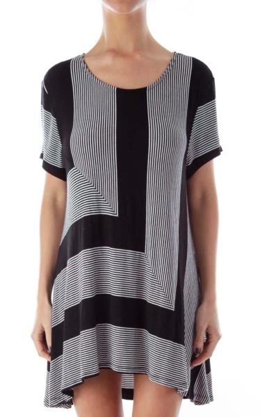 Black & White Print Shirt