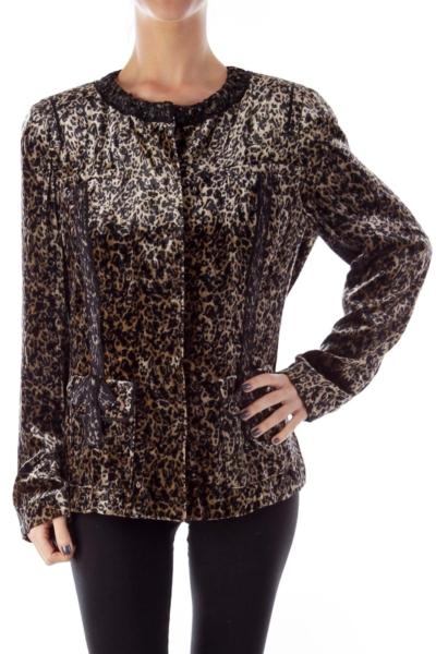 Animal Print Velvet Jacket