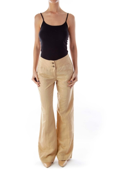 Khaki Linen Pants