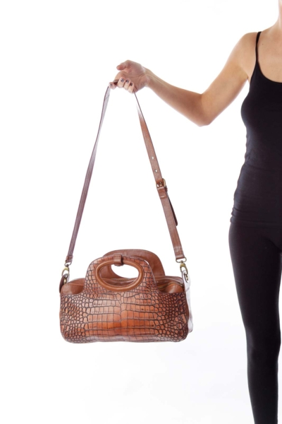 Brown Croco Bag