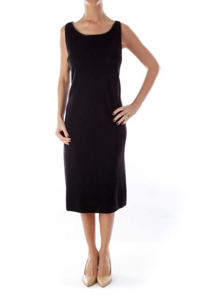 Black Merino Knit Dress