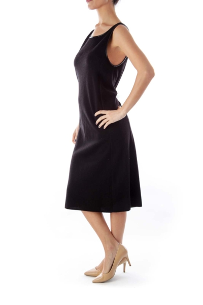Black Merino Knit Dress