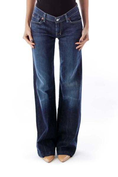 Dark Blue Flare Jeans