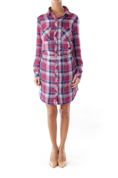 Cherry & Blue Plaid Dress
