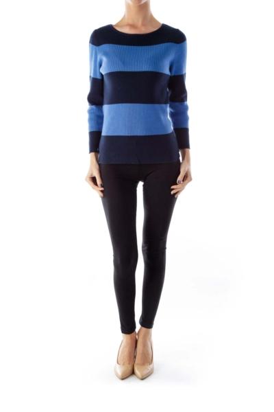 Navy & Blue Stripe Shirt