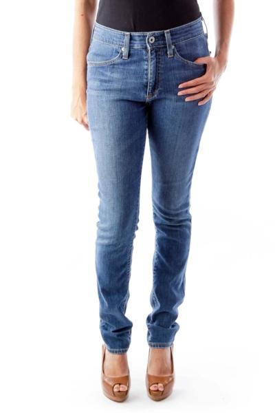 Blue Farrah Skinny Jeans
