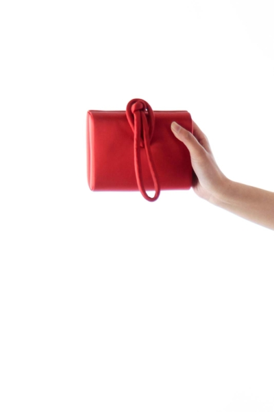 Red Knot Satin Clutch