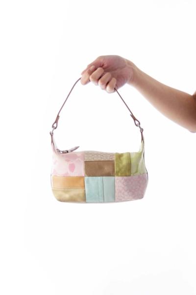 Pink & Green Patchwork Bag