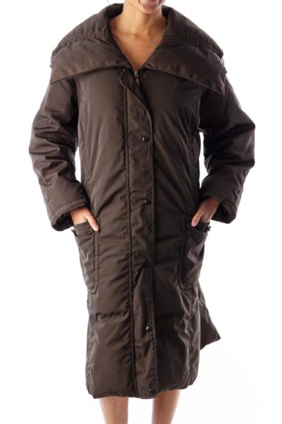 Brown Long Puff Jacket