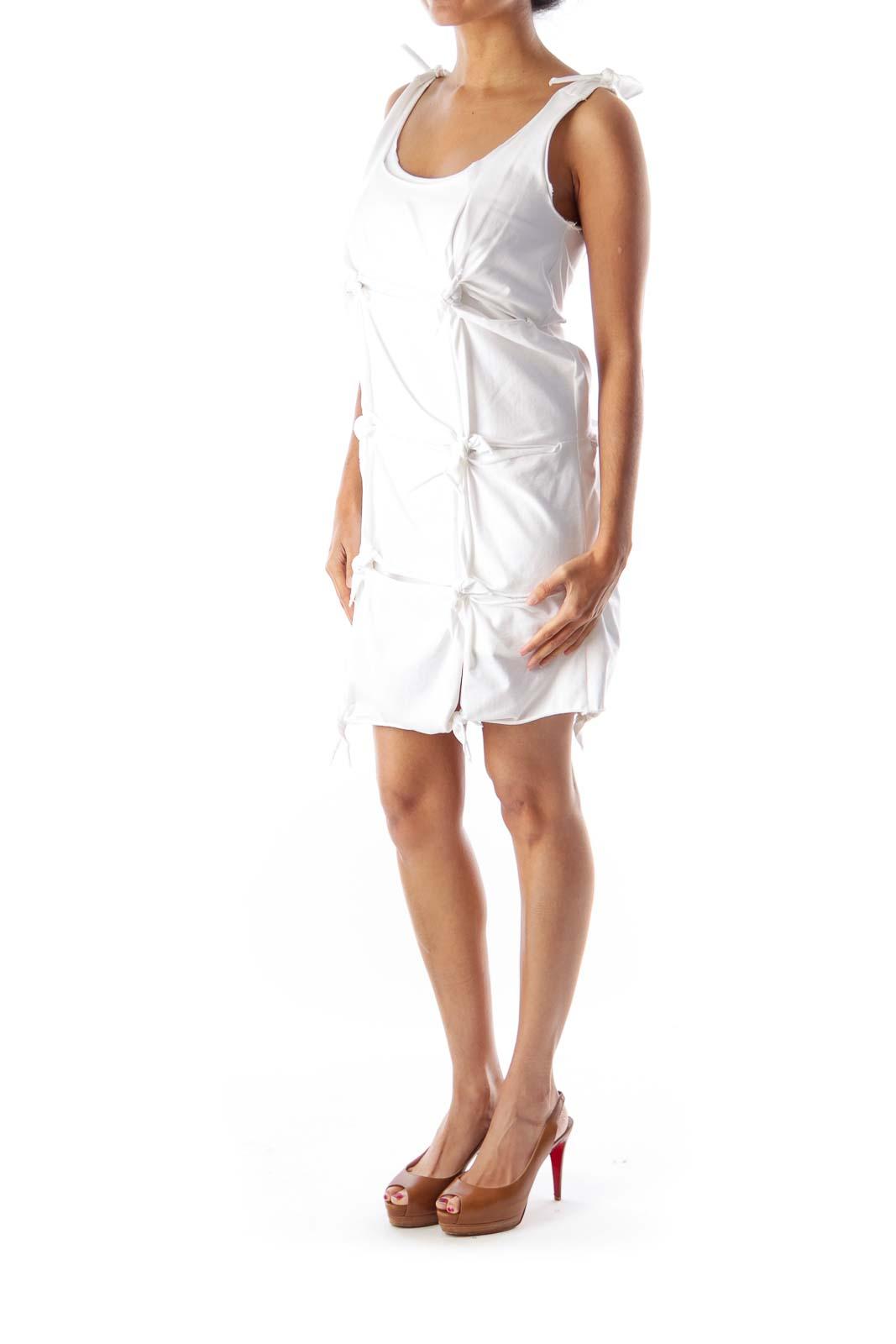 White Knot Mini Dress