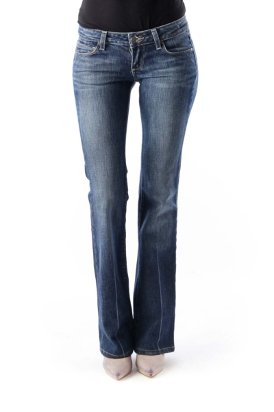 Blue Washed Flare Jeans