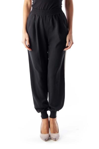 Black Side Stripe Jogger Pants