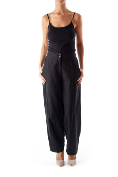 Black Side Pocket Wide Pants