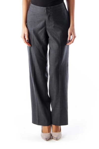 Dark Gray Straight Pants
