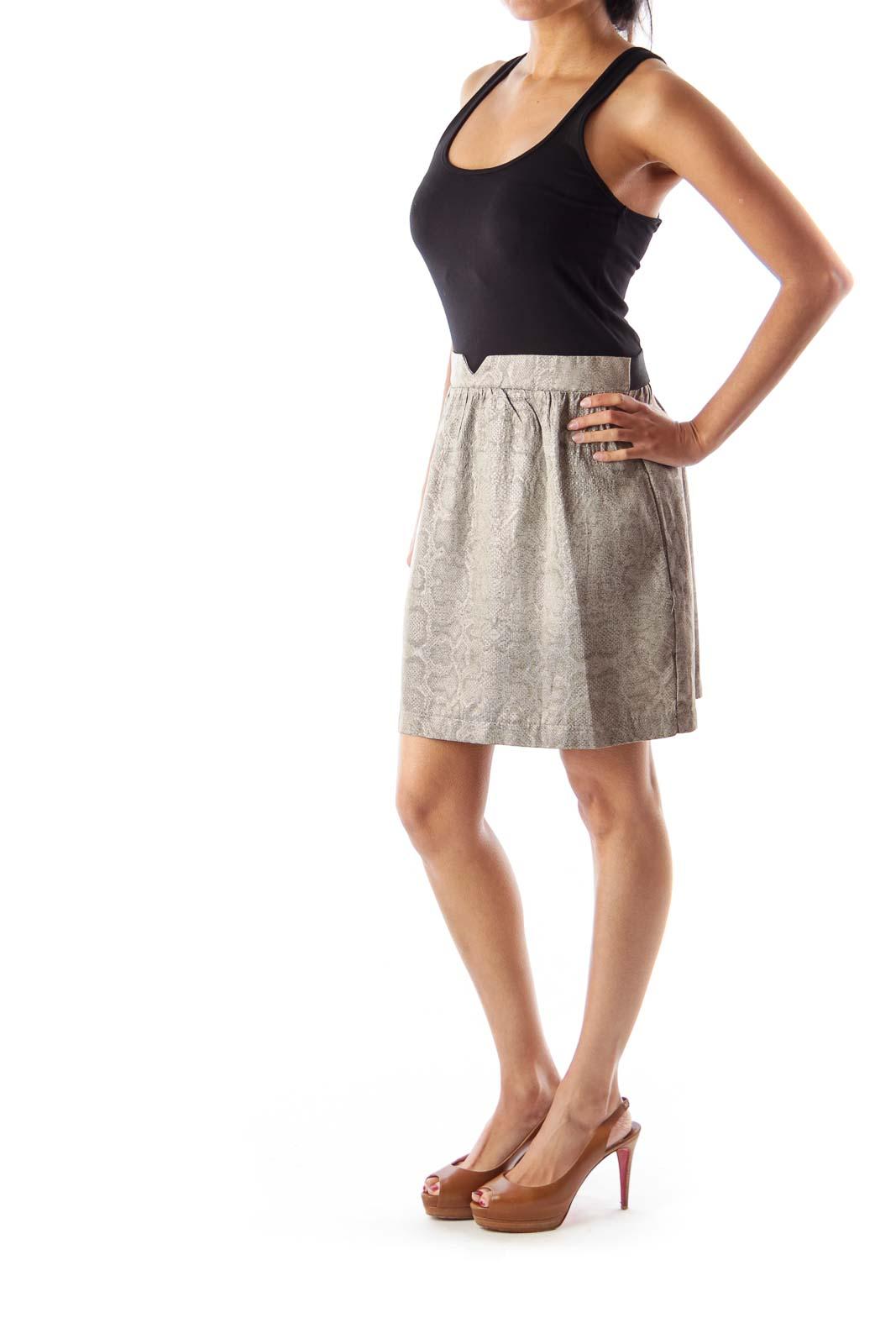Black & Metallic Mini Dress