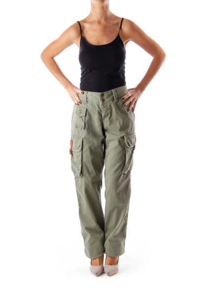 Military Green Cargo Pants