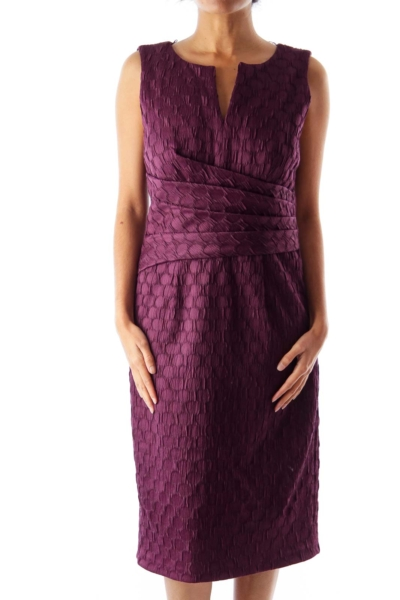 Purple Shift Seersucker Dress