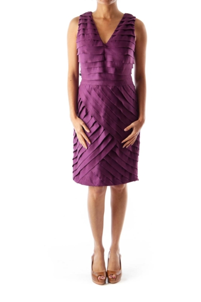 Purple Layered Shift Dress