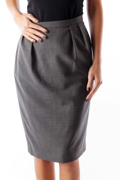 Charcoal Gray Pencil Skirt